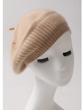 Plain Cashmere Beret Hat by Lily Silk