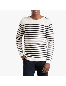 Crew Neck Cotton Jumper In Fine Knit by La Redoute Collections