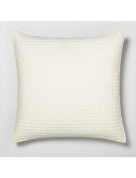 Pillow Sham Quilted Solid Sour Cream   Hearth & Hand™ With Magnolia by Shop Collections