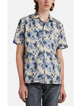 Tropical Floral Cotton Short Sleeve Shirt by Barneys New York
