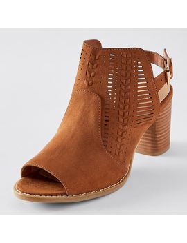 Hope Laser Cut Heeled Sandals   Tan by Target