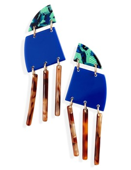 Memphis Fringe Drop Earrings by Lele Sadoughi