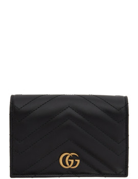 Black Gg Marmont 2.0 Passport Holder by Gucci