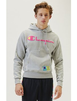 Champion Pop Jock Tag Reverse Weave Hoodie by Pacsun