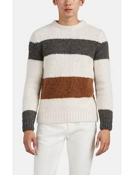 Block Striped Cashmere Blend Sweater by Eleventy