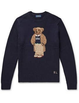 Preppy Bear Intarsia Wool Sweater by Polo Ralph Lauren