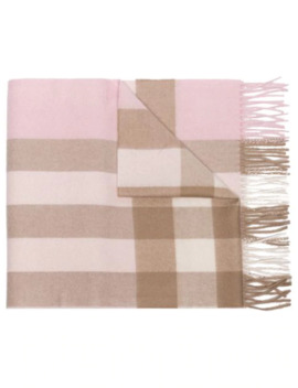 Mega Check Cashmere Scarf by Burberry
