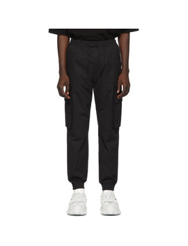 Black Cotton Cargo Pants by Juun.J