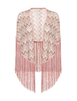 Fringed Knitted Shawl by Missoni