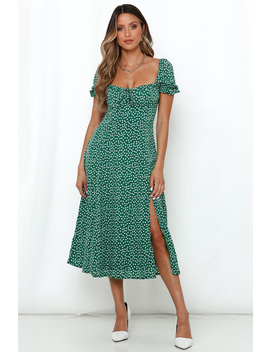 There Is Always Something Midi Dress Green by Hello Molly