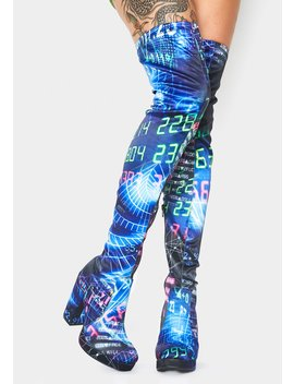 Time Continuum Thigh High Boots by Current Mood