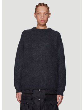 Dramatic Textured Knit Sweater In Grey by Acne Studios