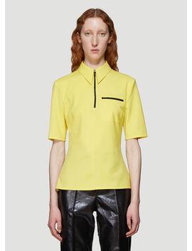 Zipped Shirt In Yellow by Kwaidan Editions
