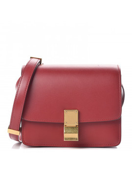 Celine Smooth Calfskin Small Classic Box Flap Red by Celine