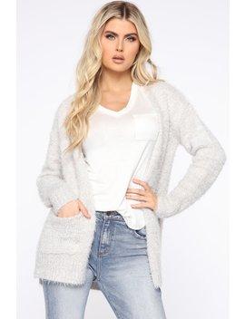 Aria Cardigan   Heather Grey by Fashion Nova