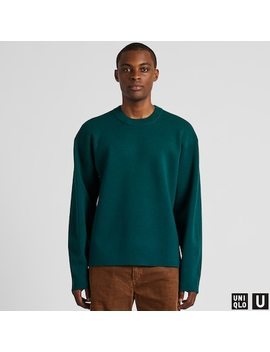 Men Uniqlo U Milano Ribbed Crew Neck Jumper (2) by Uniqlo