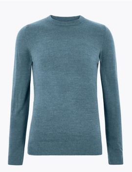 Cashmilon™ Crew Neck Jumper by Marks & Spencer