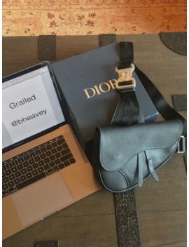 Christian Dior Saddle Bag In Black Calfskin by Dior  ×