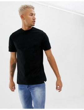 Pull&Amp;Bear Organic Cotton T Shirt In Black by Pull&Bear