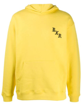 Embroidered Logo Relaxed Fit Hoodie by Bornx Raised