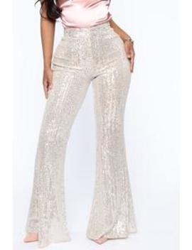 Plans Without You Sequin Pants   Silver by Fashion Nova