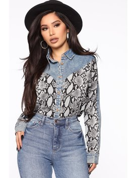 Forget What They Say Shirt   Grey/Combo by Fashion Nova