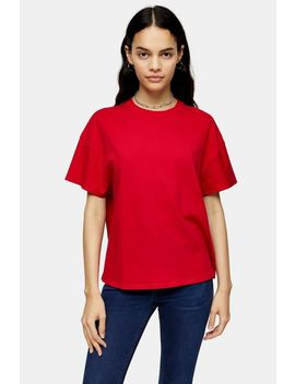 Tall Red Weekend T Shirt by Topshop