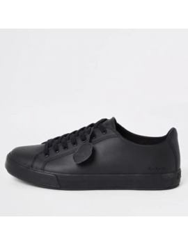 Kickers Black Leather Trainers by River Island