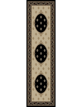 Concord Global Trading Jewel Collection Fleur De Lys Medallion Area Rug by Concord Global