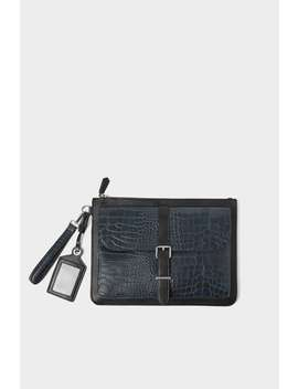 Two Toned Animal Embossed Handbag by Zara