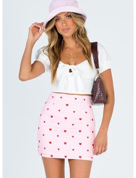 Chain Of Hearts Mini Skirt by Princess Polly