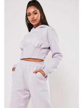 Sofia Richie X Missguided Purple Corset Hoodie by Missguided