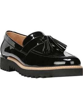Franco Sarto Women's Carolynn Tassel Loafer Black Patent Synthetic by Franco Sarto