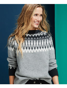 Luxe Tonal Fair Isle Crew Sweater by Vineyard Vines