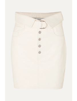Fabra Leather Mini Skirt by Iro