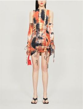 Abstract Print Stretch Cotton And Silk Blend Dress by Kim Shui