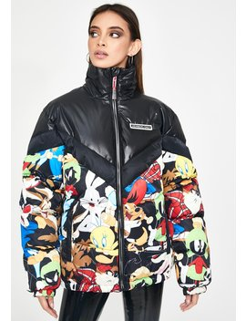 Looney Toons Puffer Jacket by Members Only