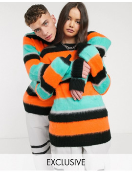 Collusion Unisex Oversized Stripe Sweater by Collusion