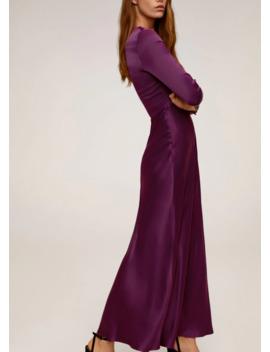 Φόρεμα μακρύ σατινέ by Mango