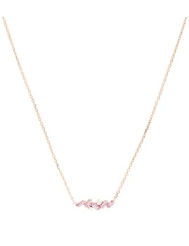 18kt Rose Gold Necklace With Pink Sapphires And Diamonds by Suzanne Kalan
