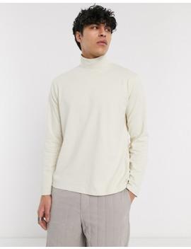 Asos White — Beige T Shirt Med Lang Lærmer Og Rullekrave by Asos White