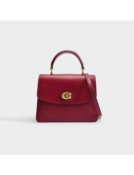 Refined Calf Leather Parker Top Handle by Coach