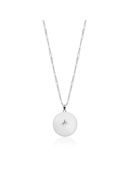 Star Disc Silver Necklace by Edge Of Ember