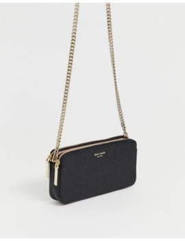 Kate Spade   Camera Bag Piccola A Tracolla In Pelle Nera Con Doppia Zip by Kate Spade