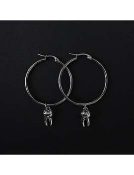 Tooth Hoop Earrings by Etsy