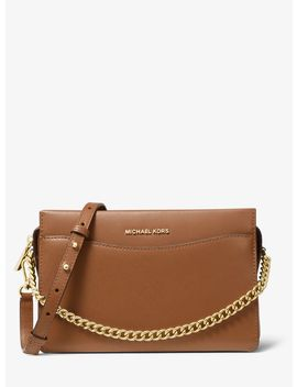 Jet Set Large Leather Chain Crossbody Bag by Michael Michael Kors