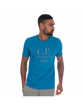 Mens C.P. Company Mens Reflective Logo T Shirt In Blue by Ebay Seller