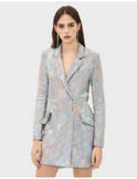 Tidal X Bershka Blazer Dress With Iridescent Mirrored Sequins by Bershka