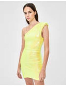 Sequinned Asymmetric Dress by Bershka