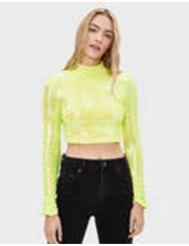 T Shirt With Fluorescent Sequins by Bershka